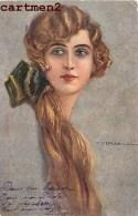 ILLUSTRATEUR T. CORBELLA FEMME AUX LONGS CHEVEUX ITALIE ITALIA - Corbella, T.