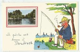 Dordives (45.Loiret)  La Pêche Est Bonne à ...   Cpsm 14 X 9 - Dordives