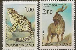 FINLAND 1989 Helsinki Zoo SG 1189-90 UNHM #XE223 - Finlande