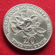 Jamaica 20 Cents 1981 FAO F.a.o. - Jamaique
