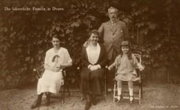 UNIQUE PHOTO POSTAL  DIE KAISERLICHE FAMILIE IN DOORN - Familles Royales