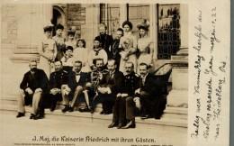 1900   ALLEMAGNE J. Maj.die Kaiserin Friedrich Mit Ihren Gästen FRIEDRICH WILHELM  NAAR ZAANDAM WESTZIJDE VAN WIESBADEN - Royal Families