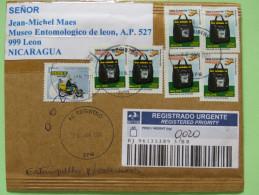 Brasil 2011 Registered Cover To Nicaragua - Postal Bag - Motorcycle - Brazil