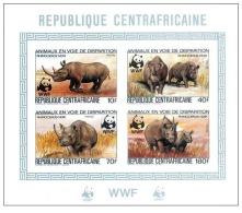 (WWF-006) W.W.F. Central Africa Rhino MNH Imperf Souvenir Sheet 1983 - W.W.F.