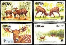 (WWF-015) W.W.F. Ghana Bongo MNH Perf Stamps 1984 - W.W.F.