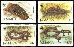 (WWF-019) W.W.F. Jamaica Boa MNH Perf Stamps 1984 - W.W.F.