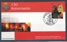 2004 PEROU 1406** Pompiers, FDC - Peru