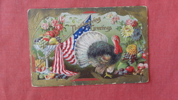 Thanksgiving  Embossed  US Flag   Ref 2400 - Thanksgiving