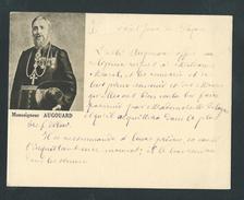 M1100 -  Rare Carte De Visite - Image Pieuse Monseigneur AUGOUARD - écrite De Sa Main - Evèque BRAZAVILLE CONGO - Cartoncini Da Visita