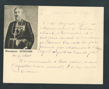 M1100 -  Rare Carte De Visite - Image Pieuse Monseigneur AUGOUARD - écrite De Sa Main - Evèque BRAZAVILLE CONGO - Visitekaartjes