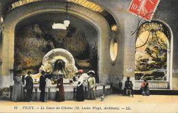 Thermalisme: Vichy - La Source Des Célestins - Carte LL N° 10, Colorisée - Health