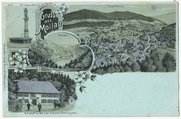 Gruss Aus Mollau Wirtschaff Zu Den Zwei Schlusseln Aimé Toussaint Litho Joseph Schumpff Mulhausen - Other Municipalities