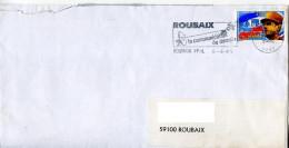 Marcophilie,De Gaulle La Victoire 2.80 Seul Sur Lettre,flamme Satellite,antenne,communication Roubaix 6.6.1995 - Marcophilie (Lettres)