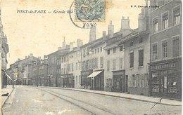 Pont-de-Vaux (Ain) - Grande Rue Et Epicerie Centrale - Edition B.F. Chalon - Pont-de-Vaux