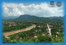 [ T66-001  ]  Town Of Luang Prabang Lao  ,  China Pre-stamped Card, Postal Stationery - UNESCO
