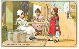 PIE-16-P - 2612 : BISCUITS MILLEZ LES BOISSONS LE LAIT BIDONS A LAIT  POT A LAIT LAITIERE - Confectionery & Biscuits