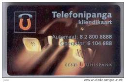 Estonia: Phone Banking Card From Uhisbank (2) - Cartes De Crédit (expiration Min. 10 Ans)