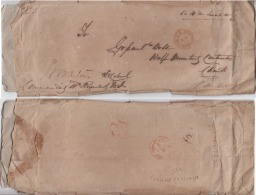 India 1863  Hand Struck Prestampy SERVICE Cover Mirzapoore) To Cawnpore #  93018  Inde  Indien - ...-1852 Prephilately