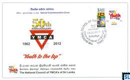 Sri Lanka Stamps, The National Council Of YMCA's, Special Commemorative Cover - Sri Lanka (Ceylon) (1948-...)