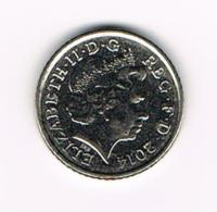 °°°  GREAT BRITAIN  5 PENCE 2014 - 5 Pence & 5 New Pence