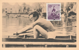 D27322 CARTE MAXIMUM CARD 1959 POLAND - ROWING CP ORIGINAL - Rowing