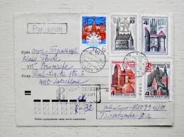 Registered Cover From Ussr Sent To Germany  Novosibirsk Tallin Riga Trakai New Year - 1923-1991 UdSSR