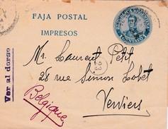 Faja Postal = Bande Postal = Newspaperwrappers = Krantenwikkel  : Van Argentinie => Verviers - Postal Stationery