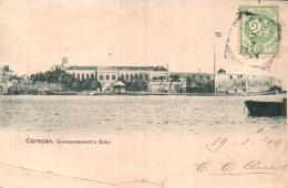 CURACAO GOUVERNEMENT'S HUIS CARTE PRECURSEUR CIRCULEE 1904 - Curaçao