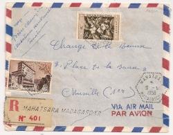 RARE : Hexa Tireté MAHATSARA MADAGASCAR Sur Enveloppe Recommandée Pour La France. 1958. - Madagascar (1960-...)