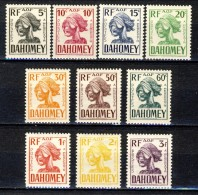 Dahomey Timbre Taxe 1941 Serie N. 19-28 MLH Catalogo € 9,50 - Unclassified