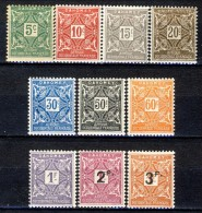 Dahomey Timbre Taxe 1914 - 27 Serie N. 9-16 E Serie N. 17-18 MNH Catalogo € 25 - Unclassified