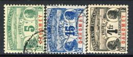 Dahomey Timbre Taxe 1906 Lotto Di 3 Bolli N. 1, 3, 8 USATI Catalogo € 62,75 - Unclassified