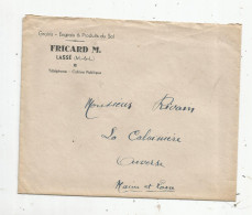 Enveloppe  Commerciale , Publicité , FRICARD M. , LASSE , Maine & Loire , Grains ,engrais & Produits Du Sol , 2 Scans - France