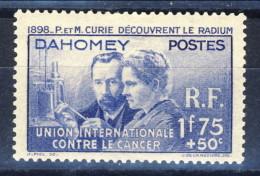 Dahomey 1938 N. 109 P. E M. Curie MNH Catalogo € 15 - Unclassified