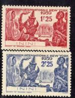 Inini N° 29 / 30 XX  Exposition Internationale De New YorK 1939 La Paire Sans Charnière TB