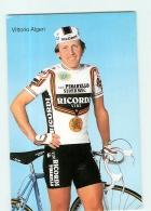 Vittorio ALGERI . 2 Scans. Cyclisme. Vini Ricordi Pinarello Sidermec 1986 (?) - Radsport