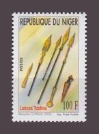 NIGER YT 1653 LANCES TOUBOU 2002 MNH ** RARE - Niger (1960-...)