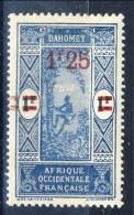 Dahomey 1926-27 VARIETA' N. 80 Fr. 1,25 Su Fr. 1 Doppia Sovrastampa Linette Spostate MH € 4,50 - Unclassified