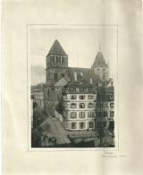 Theme Photo Anciene Strasbourg Saint Thomas Signee Heda 1949 - Lieux