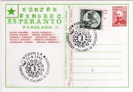 Italia 1990 Padova Congresso Italiano Di Esperanto Esperando Esperantujo Espere Cartolina Annullo - Esperanto