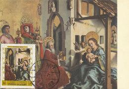 D27350 CARTE MAXIMUM CARD 1971 FUJEIRA - ADORATION OF THE KINGS BY KONRAD WITZ CP ORIGINAL - Religieux