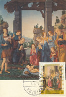 D27354 CARTE MAXIMUM CARD 1971 FUJEIRA - ADORATION OF THE SHEPHERDS BY LORENZO DI CREDI CP ORIGINAL - Religione