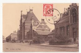 Ath:  La Gare Et La Poste.(1943) - Ath
