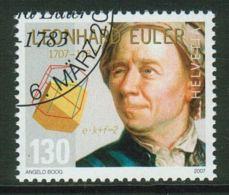 Suisse // Schweiz// Switzerland// 2007  // Tricentenaire De Leonhard Euler , Oblitéré 1er Jour  No. 1226 - Used Stamps