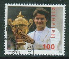 Suisse // Schweiz// Switzerland// 2007  // Roger Federer , Oblitéré 1er Jour  No. 1229 - Used Stamps