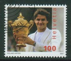 Suisse // Schweiz// Switzerland// 2007  // Roger Federer , Oblitéré 1er Jour  No. 1229 - Suisse