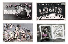 Lot De 4 Cartes CPA  : Prénom LOUIS - Voir Scans - Firstnames