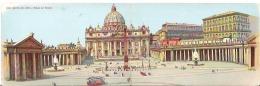 Double Card Carte Doublee Roma - Basilica San Pietro E Palazzo Del Vaticano - Vatican