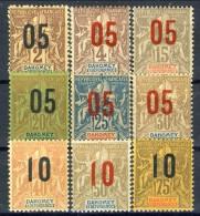 Dahomey 1912 Serie N. 33-42 Tipi Sage Sovrastampati MH Catalogo € 25 - Unclassified