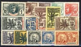 Dahomey 1906 - 07 Serie N. 18-32 Palmizi MH (3 Usati) Catalogo € 580 - Unclassified